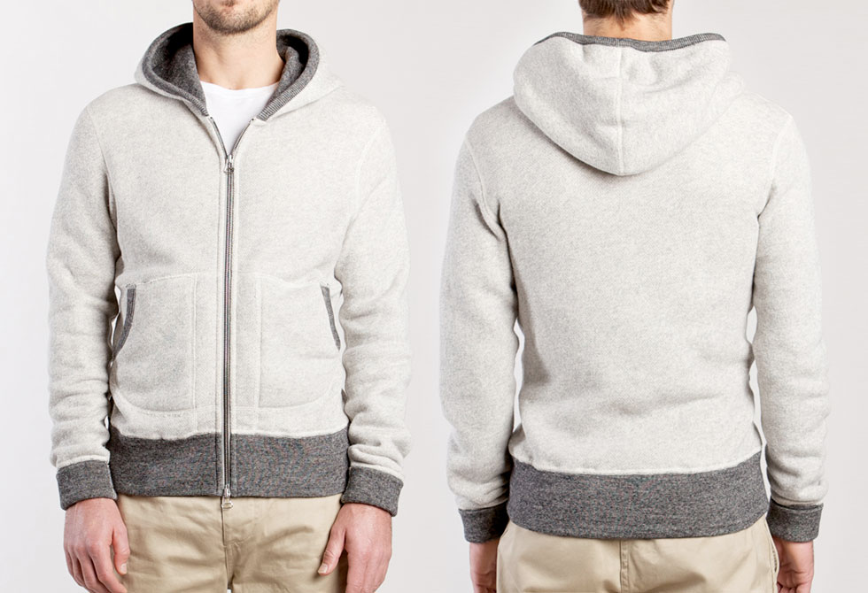 Wings+Horns Large Loop Colorblock Hoodie