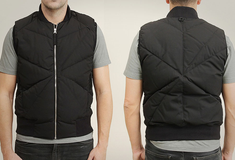 Modular Down Vest from Stone Island Shadow Project