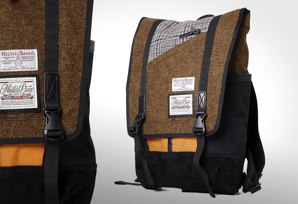 Master-Piece Harris Tweed Slash Back Pack