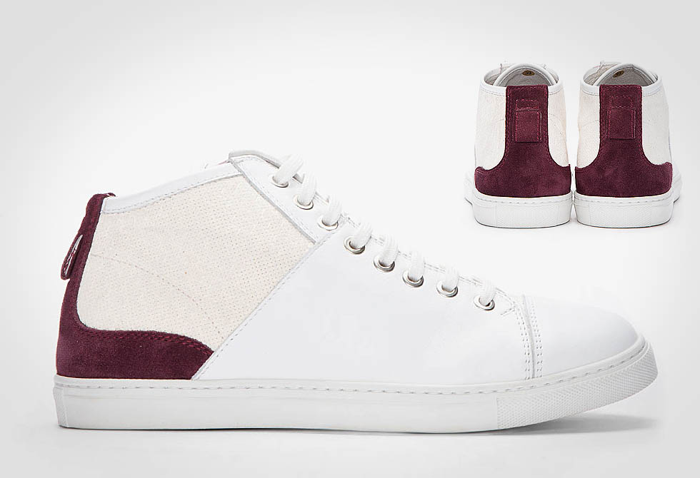 Neil Barrett's Purple-Accented Suede and Nappa Sneakers