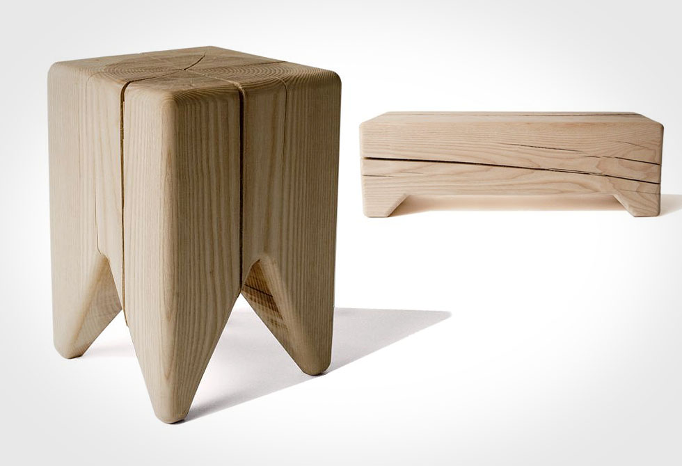 Stump Stool and Trunk Bench