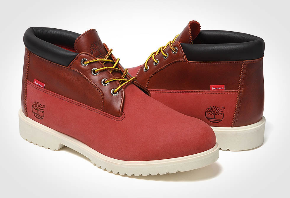 Timberland and Supreme Waterproof Chukka Boots