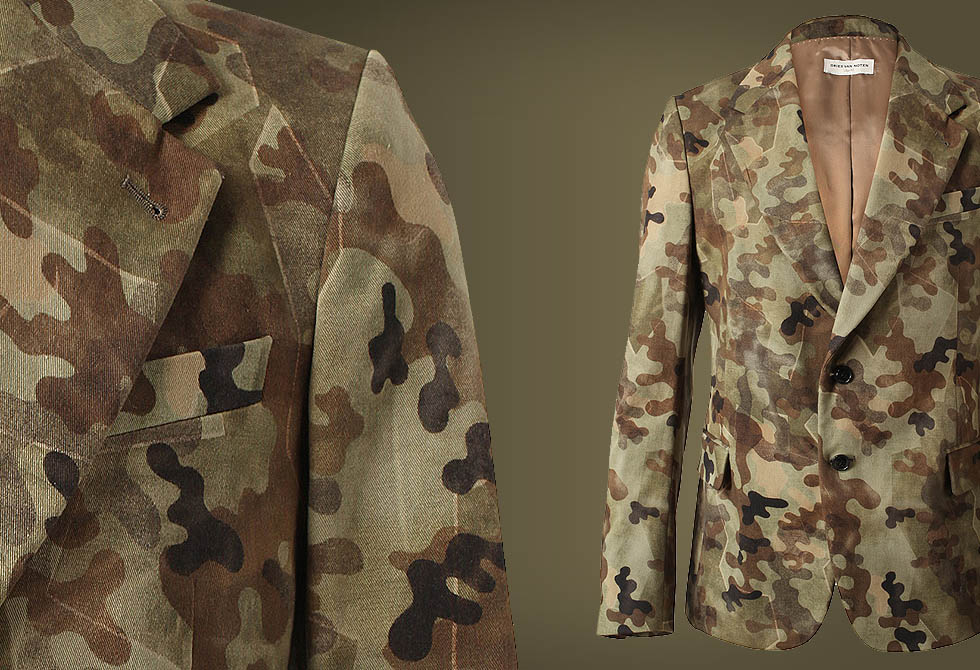 DRIES VAN NOTEN 'Blade' Camouflage Printed Cotton-twill Jacket