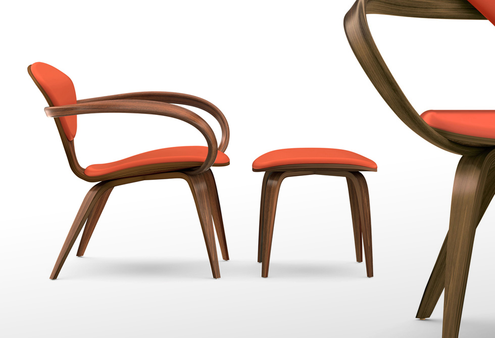 Lounge Chair & Ottoman by Cherner