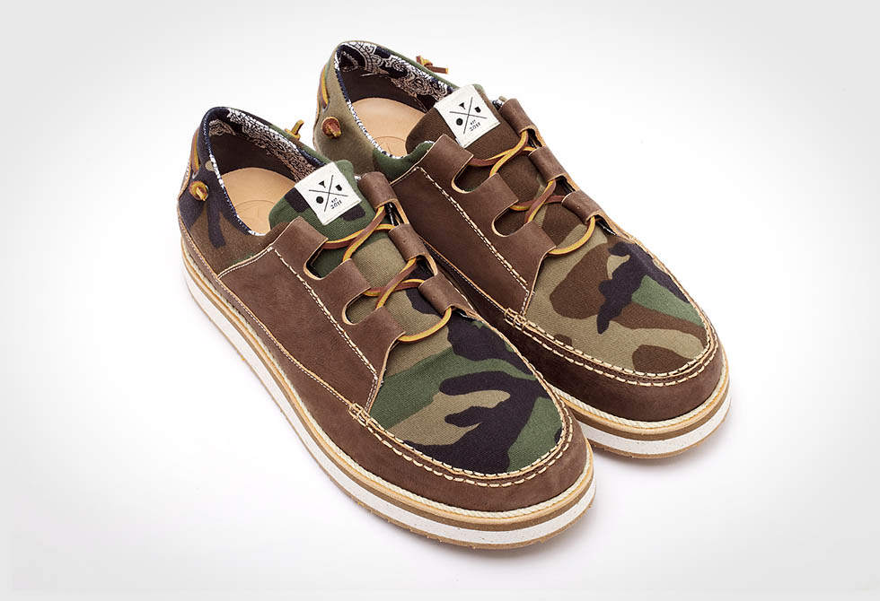 Brown Camo Sail Shoes