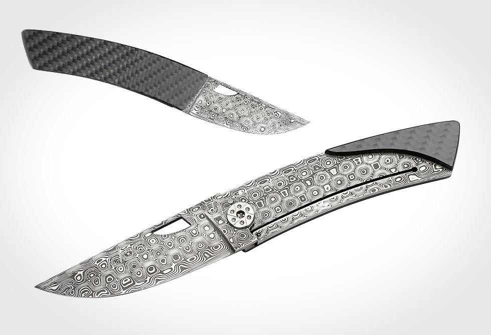 DAMASCUS POCKET KNIFE - lumberjac.com