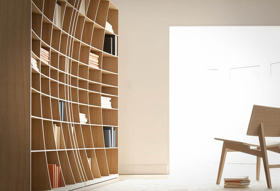 Concave Bookcase - lumberjac.com