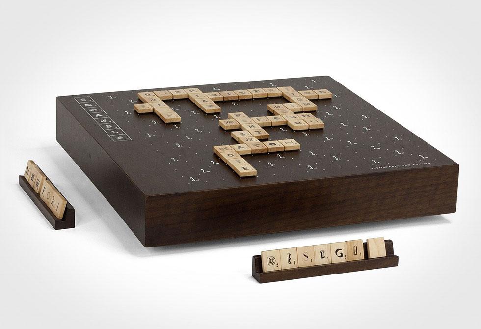 Andrew Capener's Typography Scrabble set - LumberJac