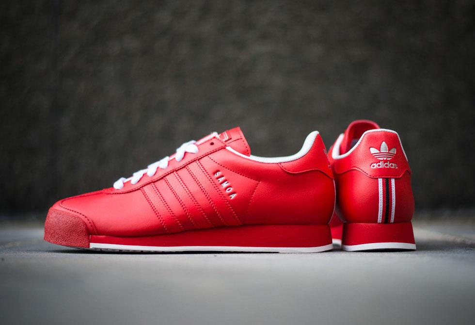 Adidas Samoa - Poppy Red/White - LumberJac Lumberjack