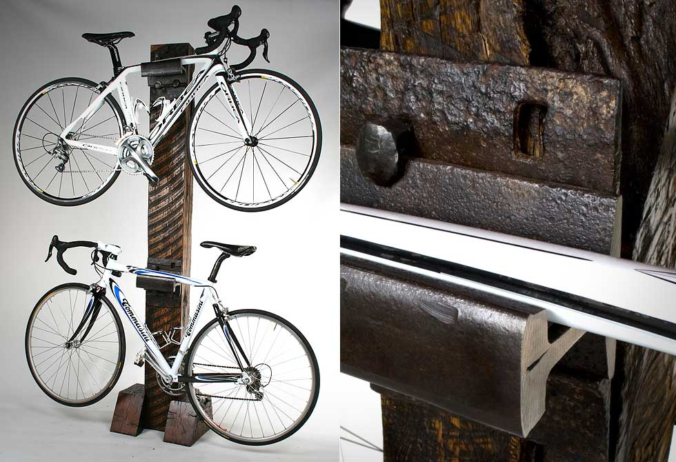 Cross Tie Bike Rack - LumberJac