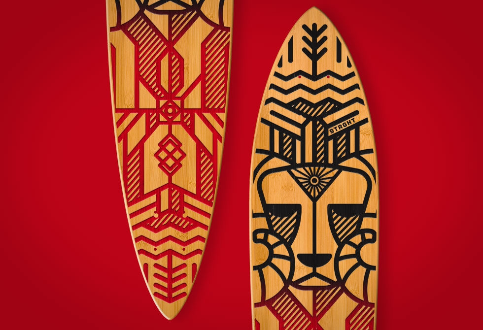 Hand Etched Decks by Strght - LumberJac