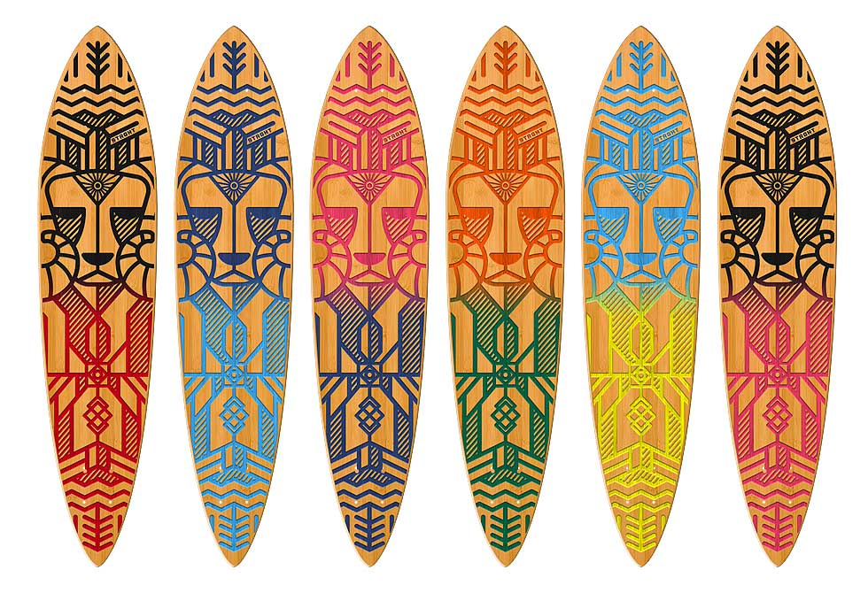 Strght skateboard Color options - LumberJac