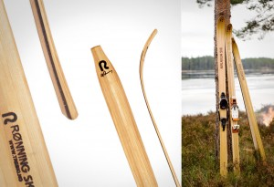 <b>Quiet Wooden Cross Country Skis</b>