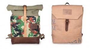 Two repurposed vintage bags by Atelier de l'Armée - LumberJac