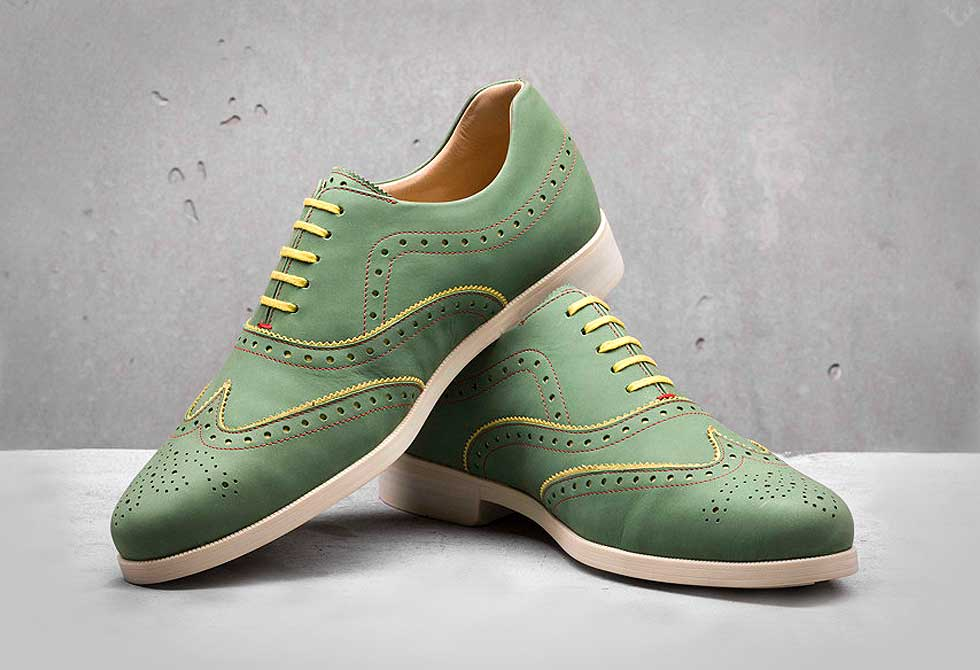 Weber-Schuh-Brogue-Nubuck-Shoes_green - LumberJac