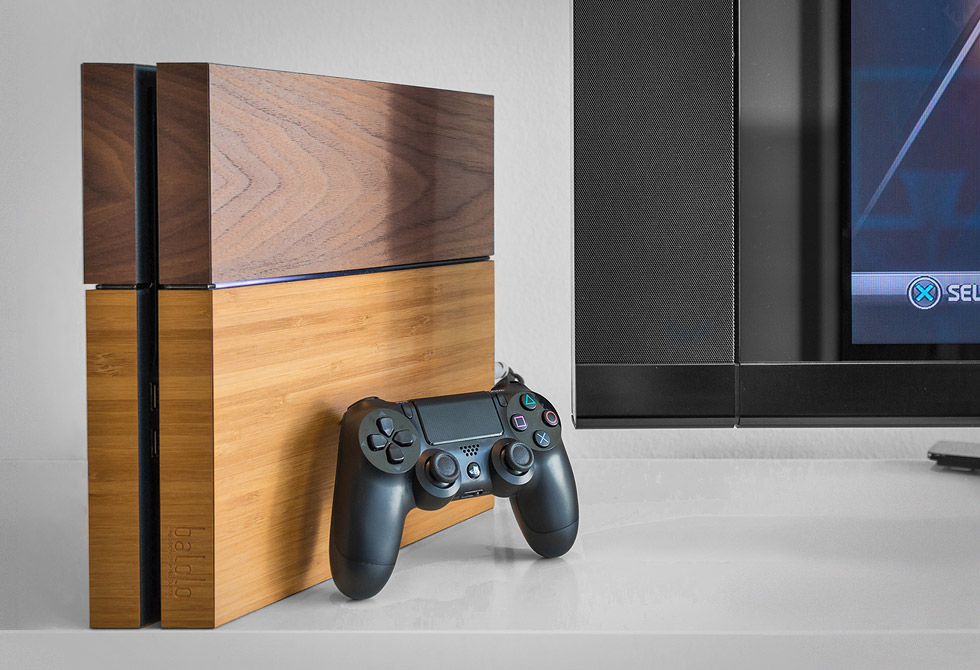 Playstation 4 Wooden Cover - LumberJac