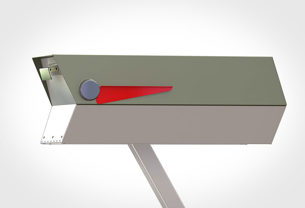 Modbox Mid-Century Mailbox 1 - LumberJac