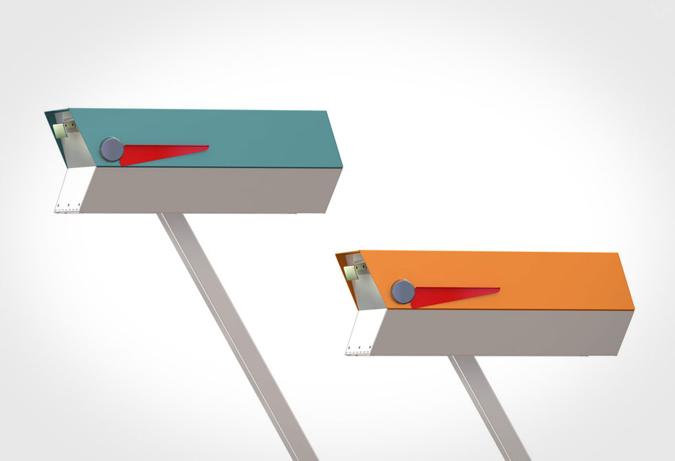 Modbox Mid-Century Mailbox 2 - LumberJac