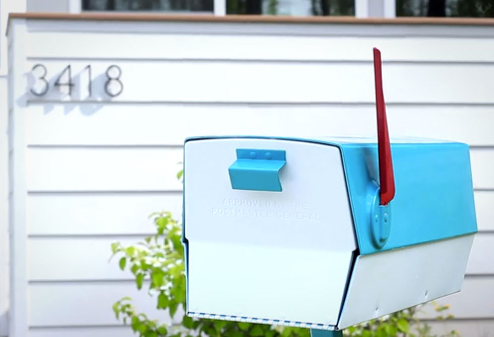 Modbox Mid-Century Mailbox 3 - LumberJac