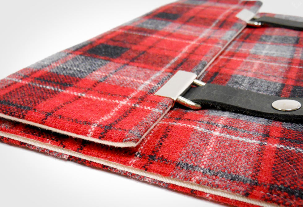 Moose and Pine iPad Case Detail - LumberJac