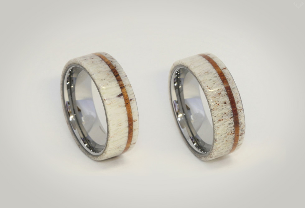 Deer-Antler-Titanium-ring-LumberJac