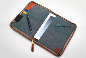 Vintage-Pendleton-Plaid-&-Cognac-Leather-Planner-iPad-Case1-LumberJac