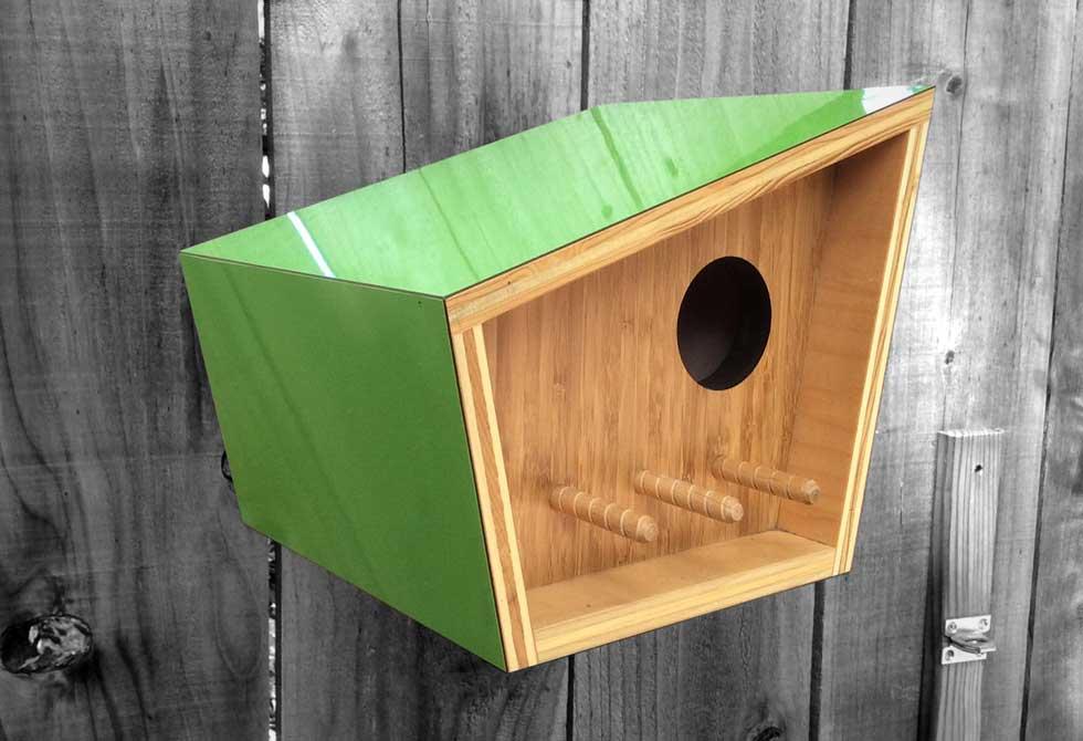 Sourgrassbuilt bird house lumberjac for Different bird houses