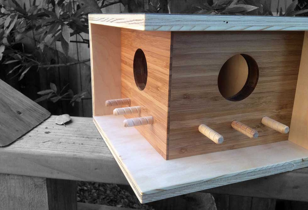 Mid Century Modern Sourgrassbuilt Bird House