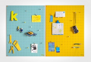 Block Pegboard - Blue and Yellow