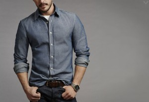 Trim Denim Shirt