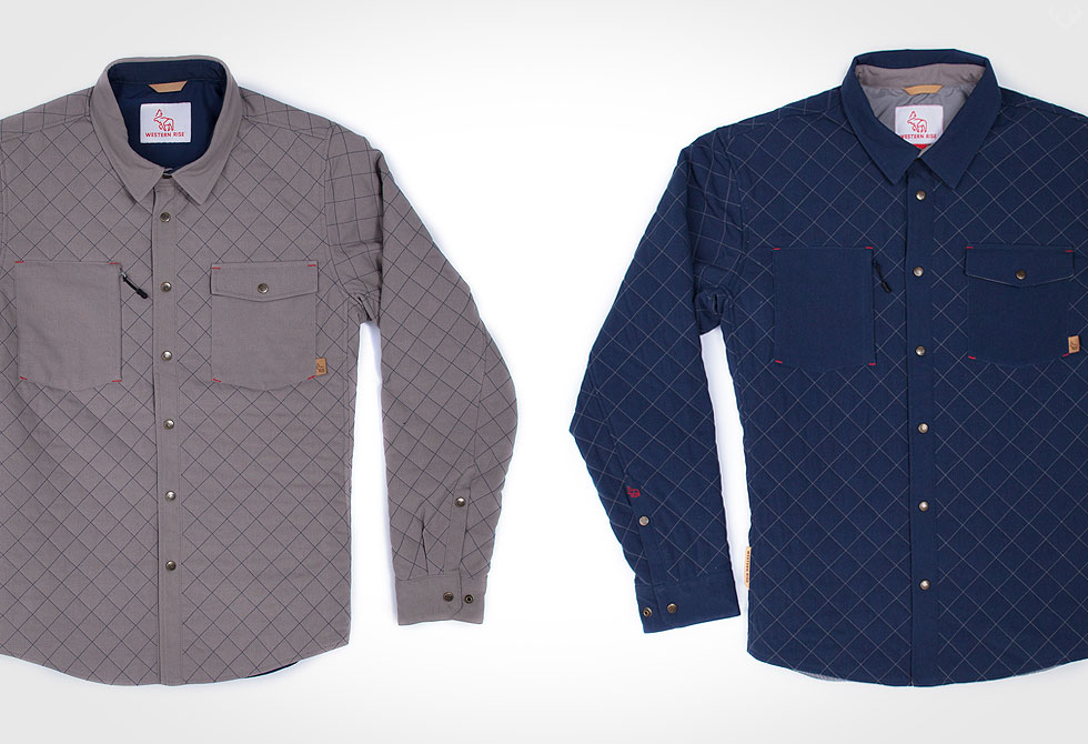Western Rise Caribou Quilted Shirt