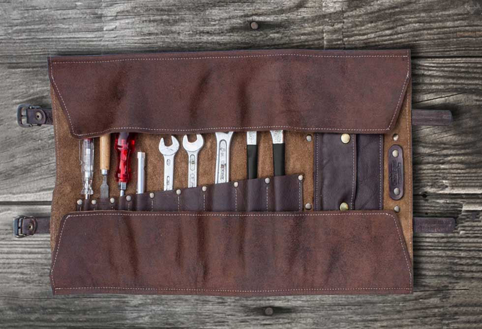 leather tool roll. duke \u0026 sons leather tool roll o