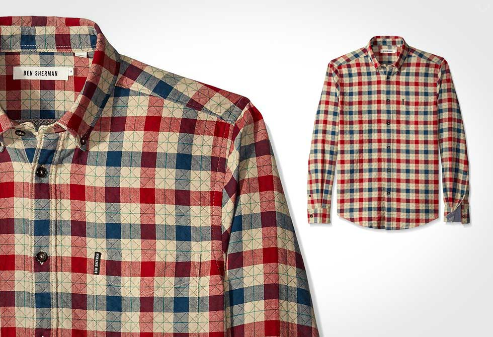 Ben Sherman Diamond Stitch House Check Shirt