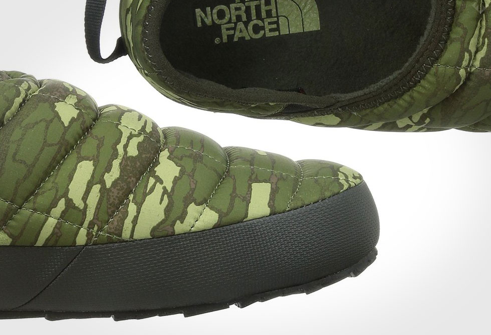 The North Face Thermoball Traction Mule II Slipper -Camo top and side view