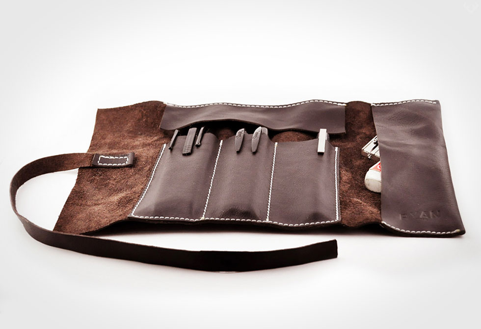 RYAN Leather Pencil Case Roll