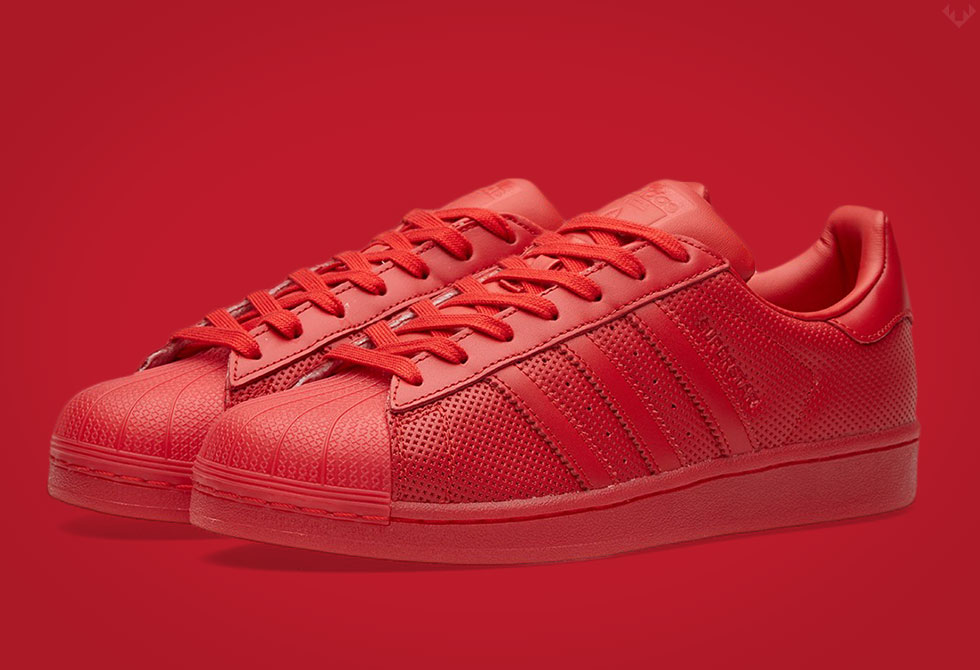 Superstar Adicolor from the S/S2016 Adidas Originals collection in red