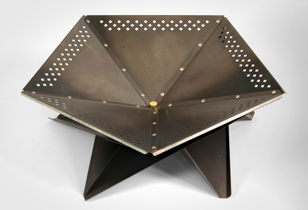 Cross Tan Fire Pit by Jam Furniture
