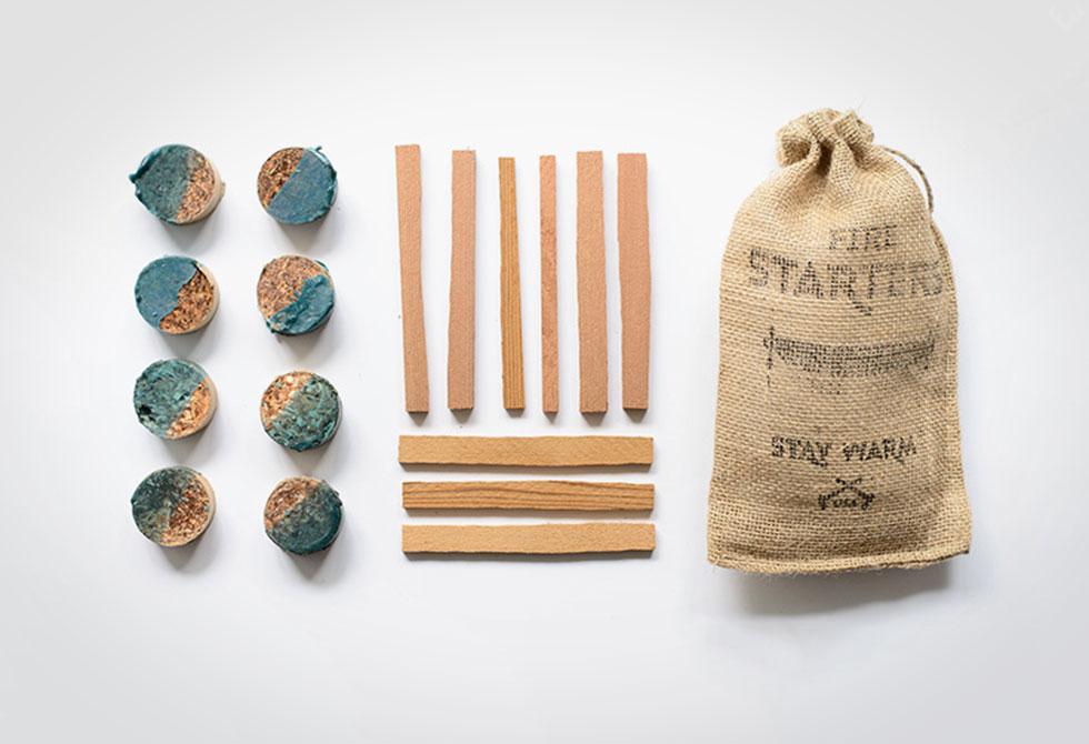 Salvaged Cedar Fire Starter Kit