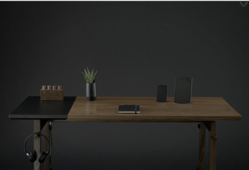 Artifox Standing Desk 01 Walnut 1 LumberJac