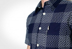 Rogue Territory Indigo Sashiko Hawaiian Shirt