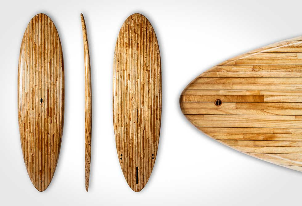 Hermanns Shaping-Company Veneer Stripes Surf Boards