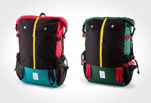 Fall layers by Topo Designs - Mountain Rolltop backpack