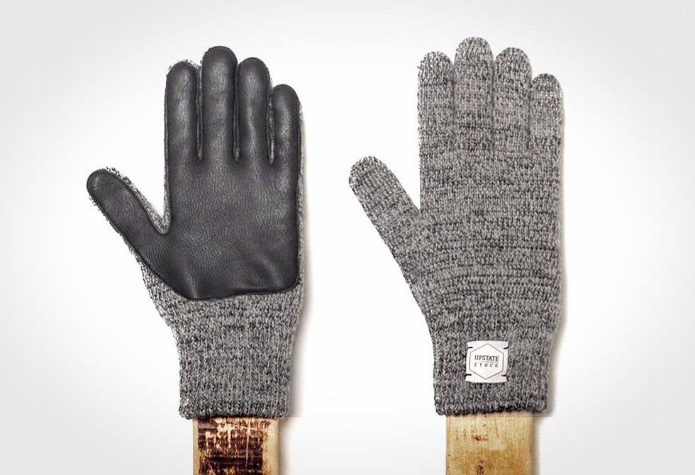 Upstate Stock Ragg Wool and Deerskin Gull Gloves