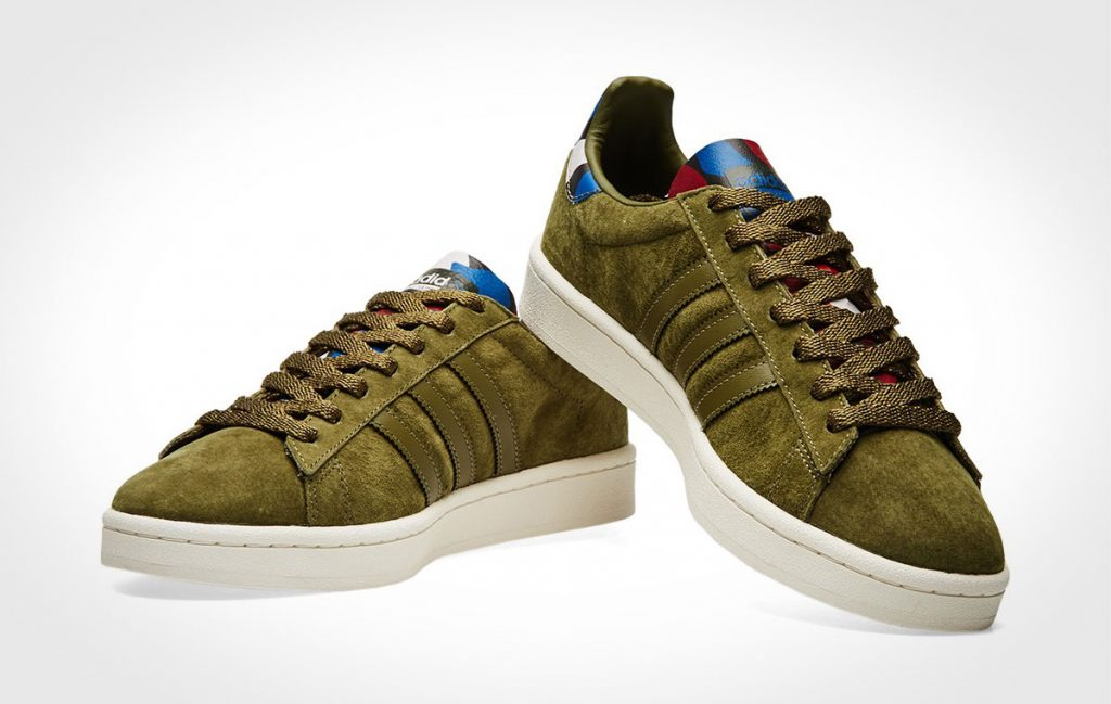 Adidas Campus Olive Cargo and Core Blue Sneakers
