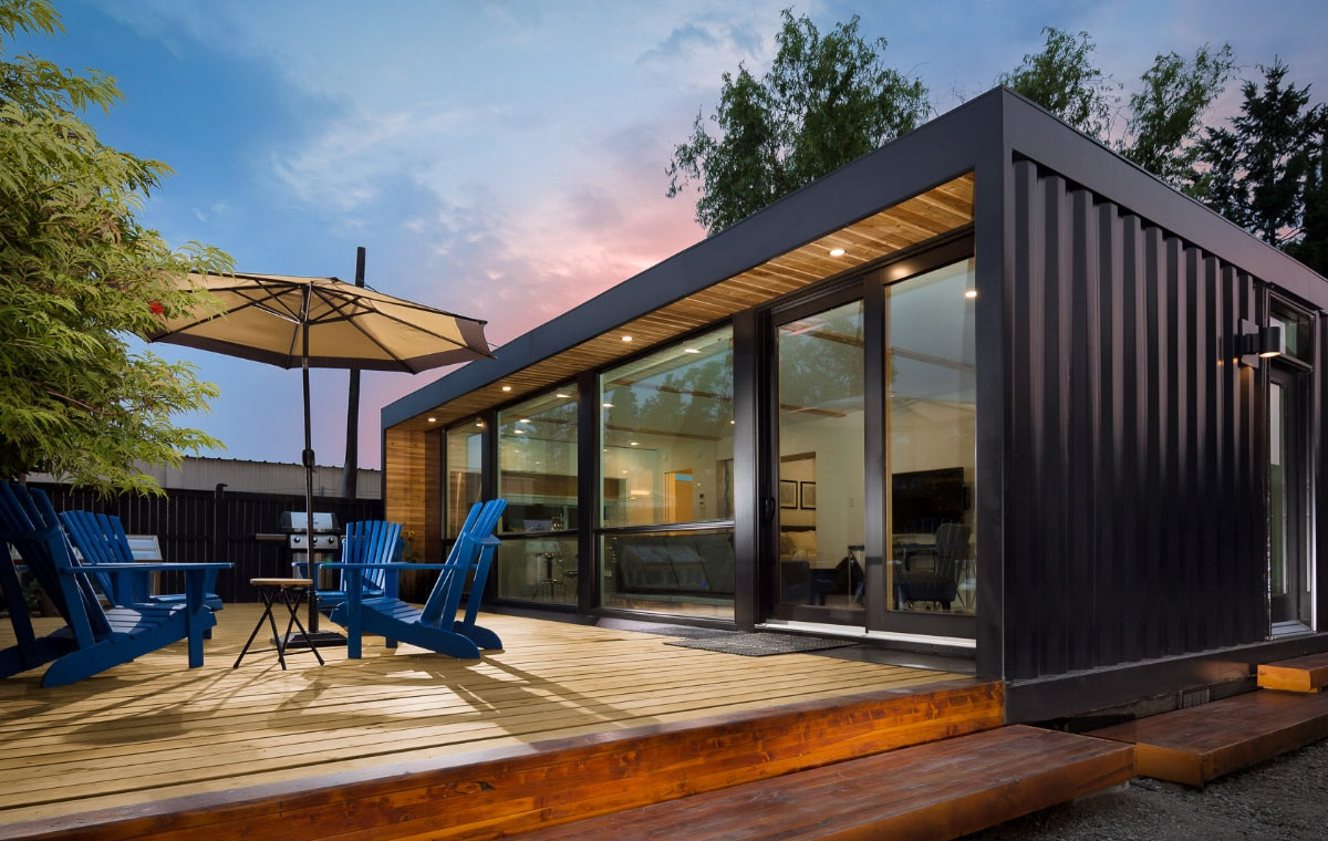 H04 Shipping Container Home LumberJac
