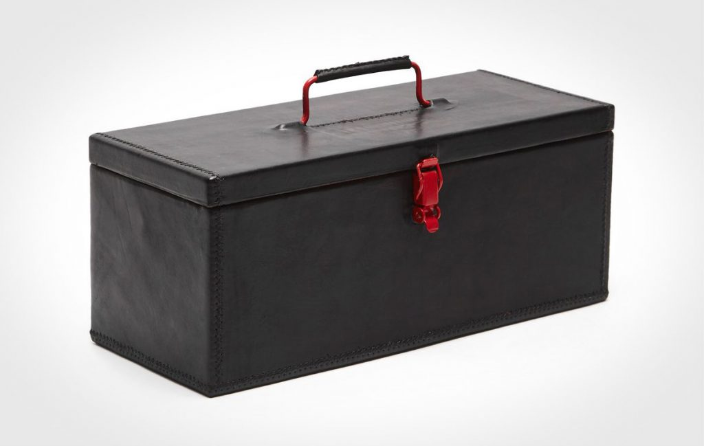 Sol Y Luna Leather Wrapped Tool Box