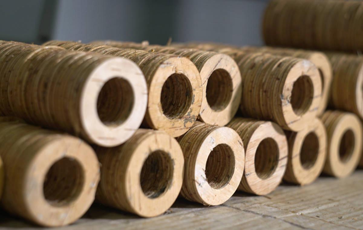 my Boo birch bark handlebar grips LumberJac