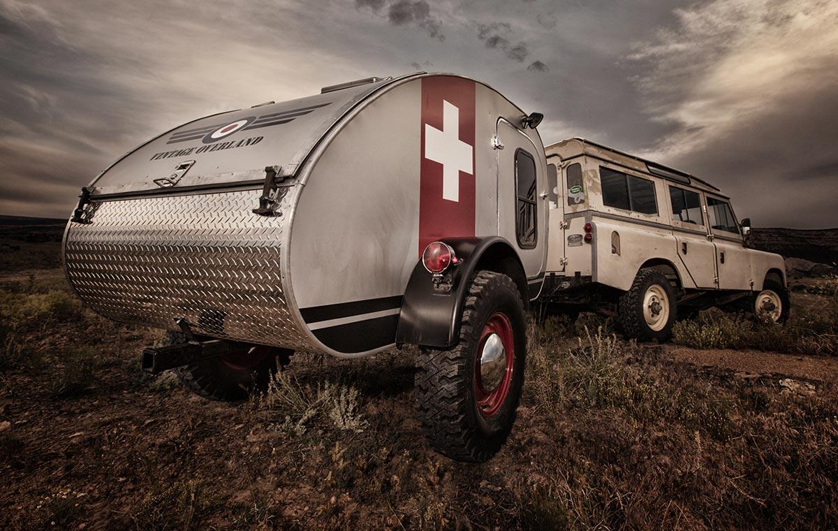 Vintage Overland Caravan Camping Trailer LumberJac
