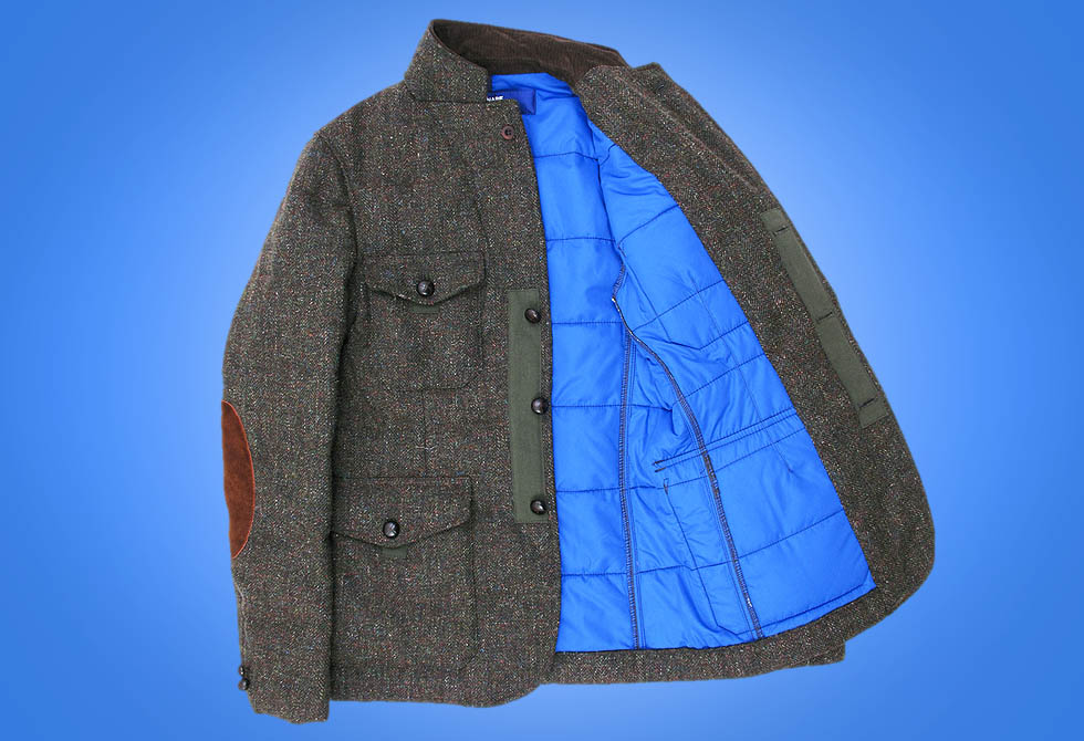 Junya Watanabe Interior Quilted Tweed Jacket