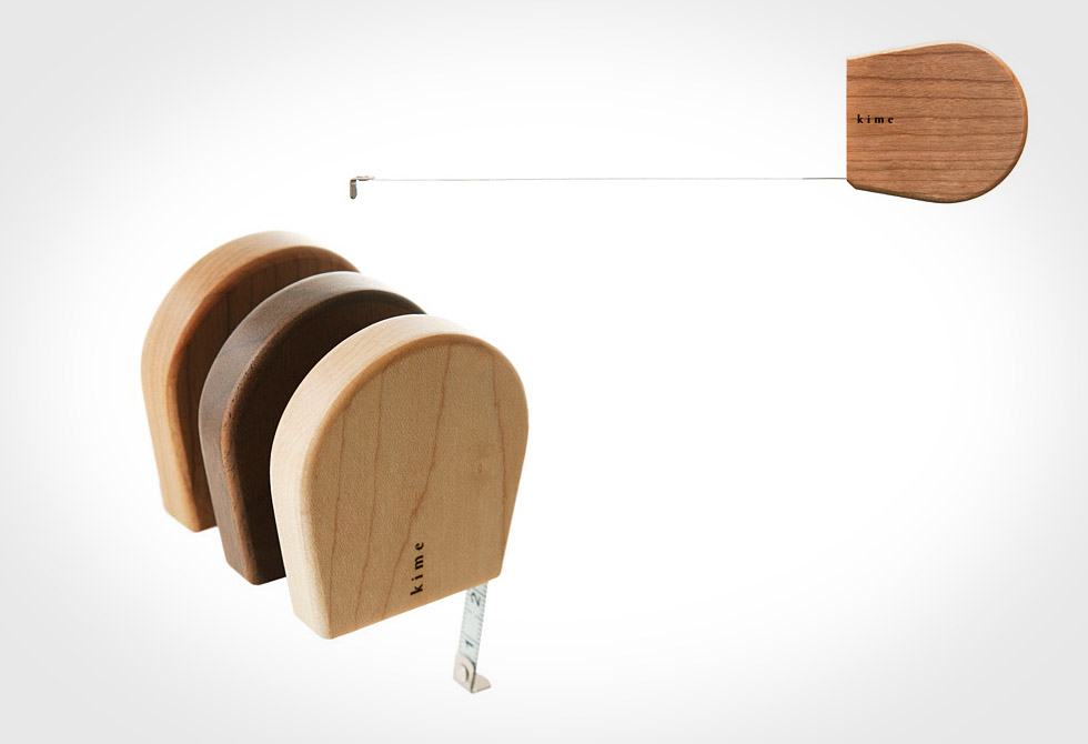 Wooden Tape Measure by Mikiya Kobayashi